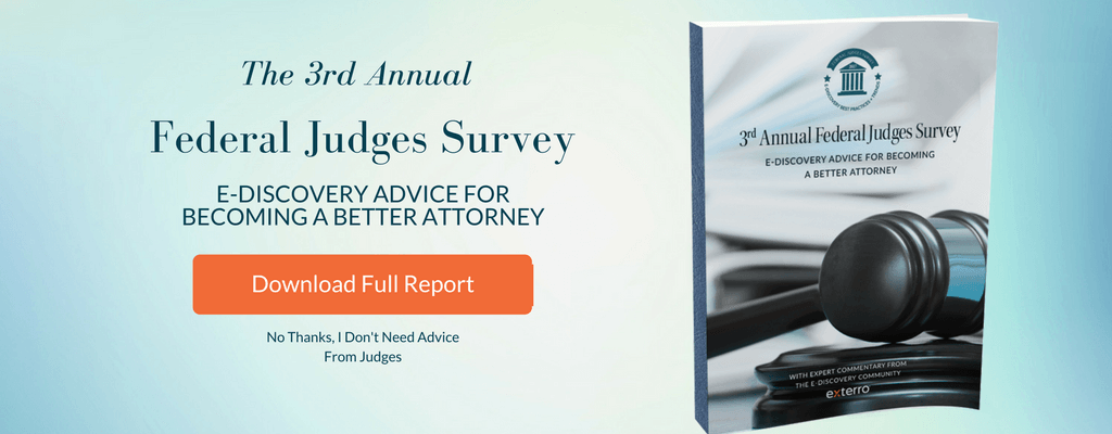 exterro releases third annual federal judges survey e discovery