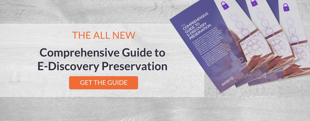 Exterro's Comprehensive Guide to E-Discovery Preservation