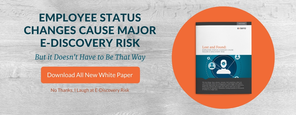 Employee Change Causes Major Risk
