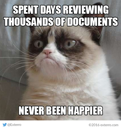 Friday Funnies Exterro S E Discovery Meme Series Grumpy