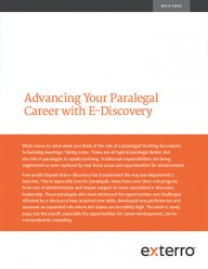 The Changing Role of Paralegals in E-Discovery