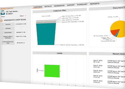In Place Analytics and Review for Early Case Assessment