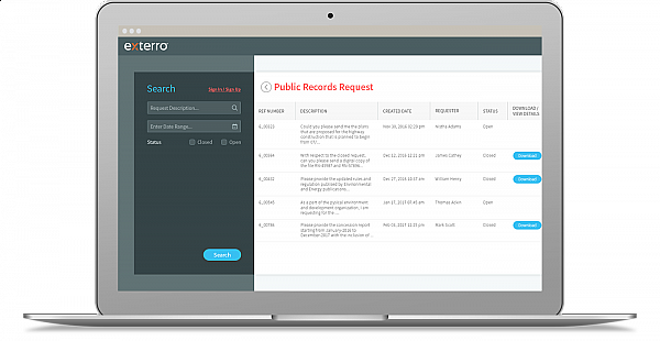 Constituent Portal for Submitting and Tracking Requests