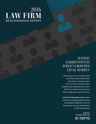 2016 law firm benchmarking report