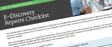IT's E-Discovery Reports Checklist