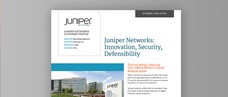 Juniper Networking: Innovation, Security, Defensibility