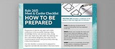 Rule 26(f) Meet & Confer Checklist: How to Be Prepared