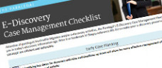 Paralegal's E-Discovery Case Management Checklist