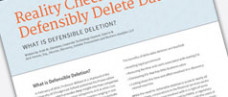 Reality Check - You Can Defensibly Delete Data