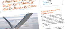 Wind Energy Leader Gets Ahead of the E-Discovery Curve