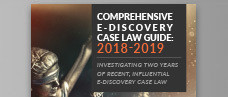 Comprehensive E-Discovery Case Law Guide: 2018 to 2019