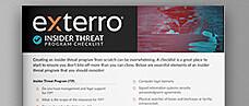Insider Threat Program Checklist