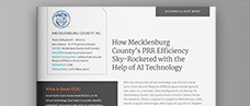 How Mecklenburg County's PRR Efficiency Sky-Rocketed with the Help of AI Technology