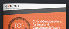 Top 8 Critical Considerations for Legal and Compliance Software